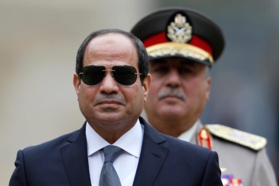 Egyptian President Abdel Fattah al-Sisi attends a military ceremony at the Hotel des Invalides in Paris on October 24, 2017. / AFP PHOTO / POOL / CHARLES PLATIAU (Photo credit should read CHARLES PLATIAU/AFP/Getty Images)