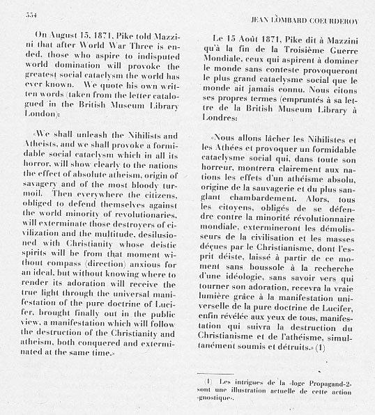 Lomb554 fausse lettre d Albert Pike 15 aoùt 1871 en français fake letter Albert Pike 15 August 1871 english 2