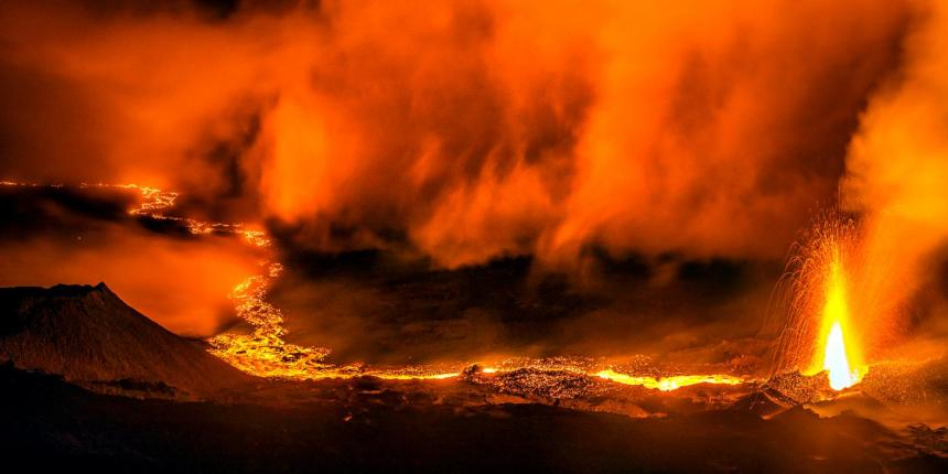 Volcanic gates of hell