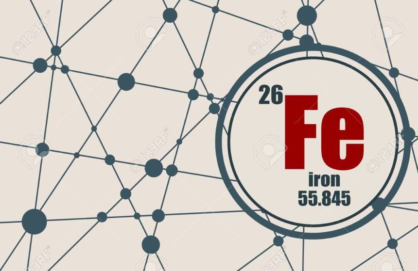 Iron chemical element.