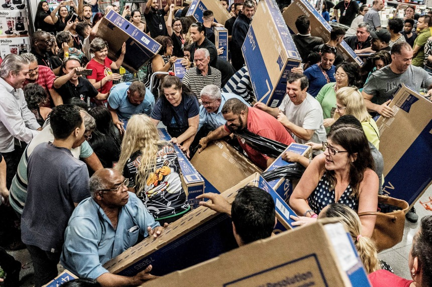 Black Friday in Sao Paulo, Brazil - 22 Nov 2018