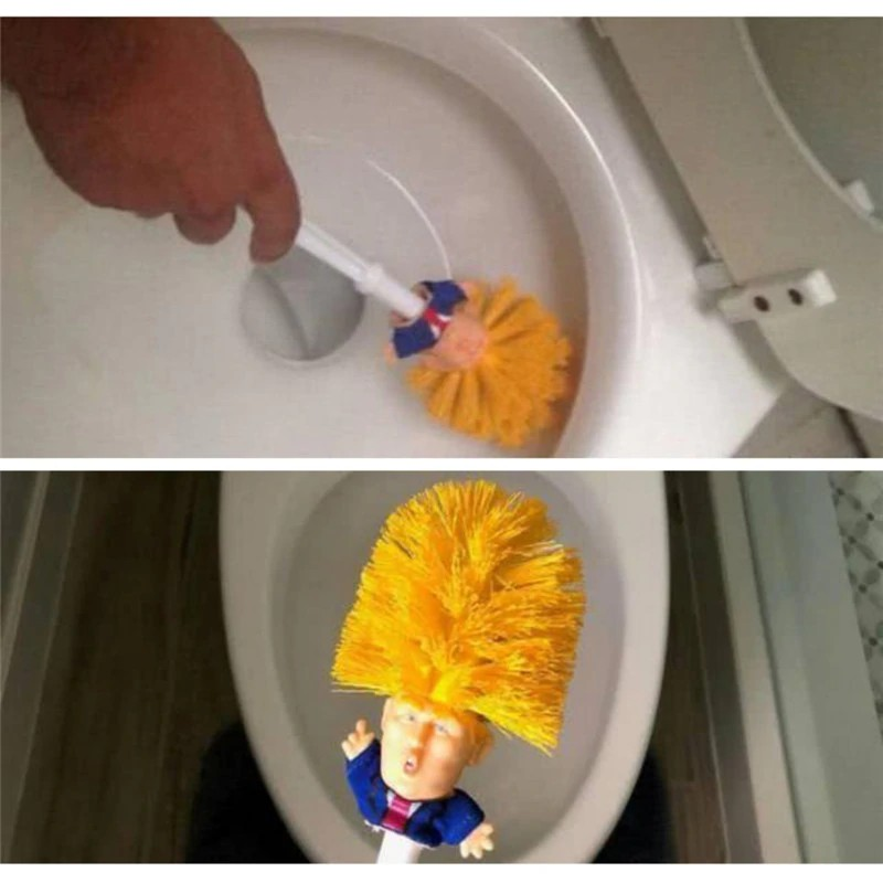 Dropshipping-Funny-Donald-Trump-Toilet-Brush-Two-styles-Cute-Brush-Plastic-Novelty-Household-Products-Gift-for
