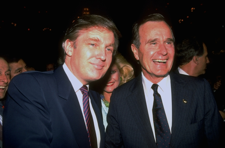 George H. W. Bush And Donald J. Trump