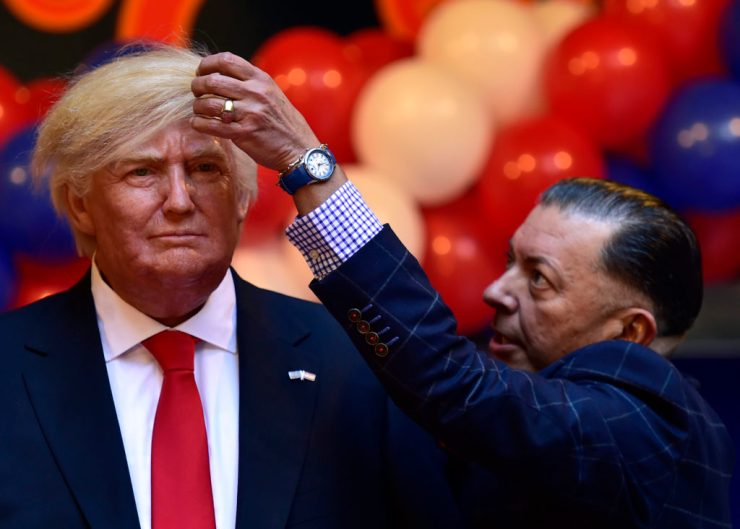 SPAIN-US-MUSEUM-WAX-TRUMP