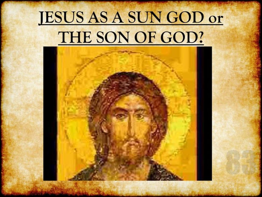 JESUS+AS+A+SUN+GOD+or+THE+SON+OF+GOD