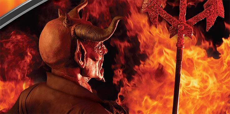 iblis bertanduk merah besar