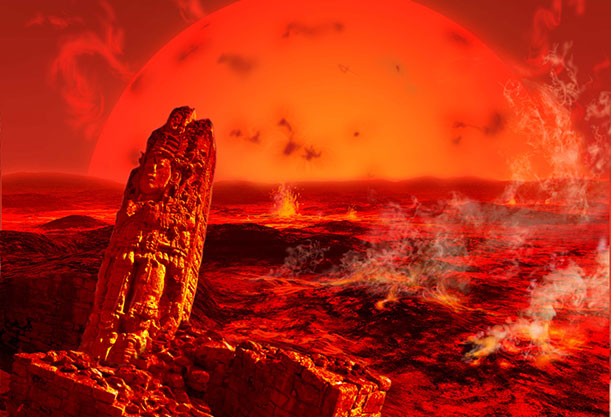 sun-as-red-giant-end-of-the-world-Ron-Miller