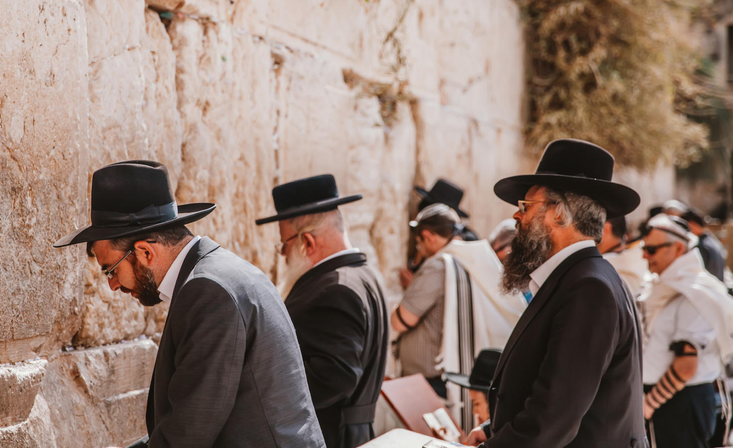 Jews Praying at Western Wall