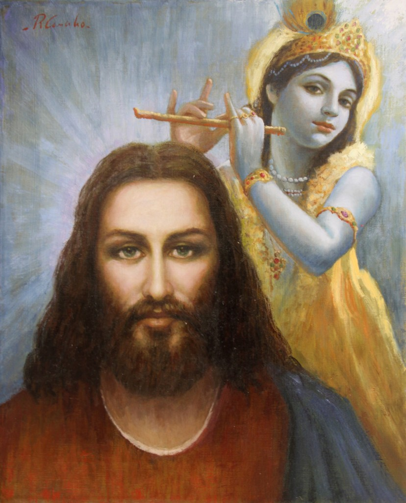 Painting-cropped-of-Jesus-and-Krishna-by-an-Italian-painter-done-for-India-828x1024