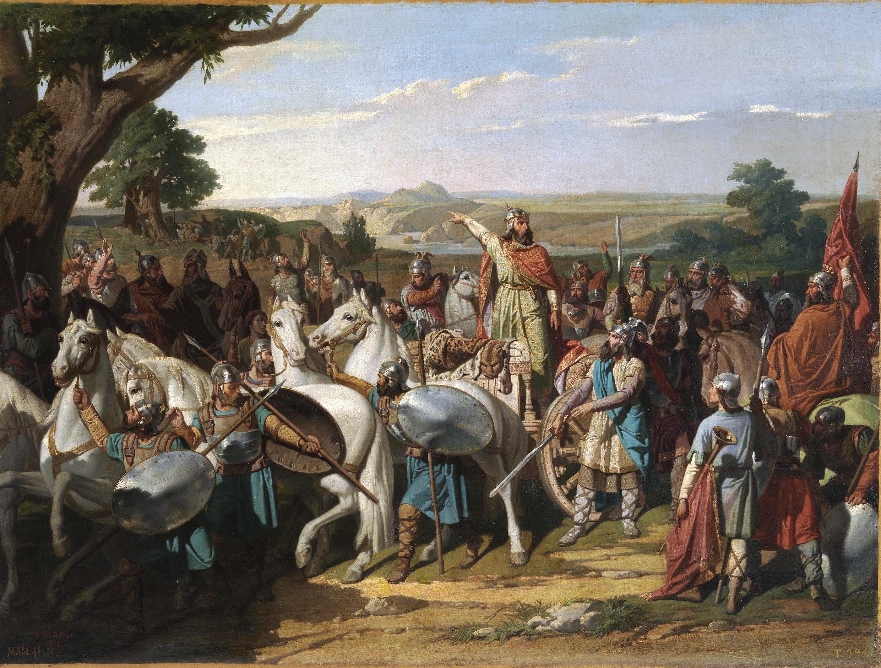 El_rey_Don_Rodrigo_arengando_a_sus_tropas_en_la_batalla_de_Guadalete_ (Museo_del_Prado)